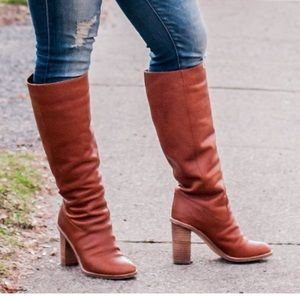 Madewell Tali Boots In English Saddle Size 7